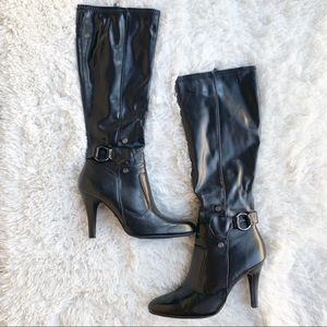 Dana Buchman Black Knee High Boots Darling Size 8